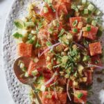 Mexican Watermelon Cucumber Salad from Nom Nom Paleo