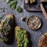 Vegan Avocado Toast with Roasted Eggplant and Hazelnut Dukkah