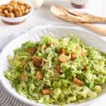 Vegan Caesar Salad with Shaved Brussels Sprouts
