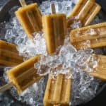 Cantaloupe Popsicles On Ice