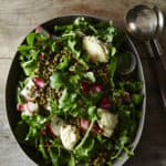 Vegan French Lentil Salad with Arugula and Cashew Cheese