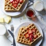 Vegan Gluten Free Waffles with Buckwheat and Oats