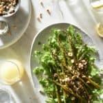 Paleo Roasted Asparagus Salad with Arugula