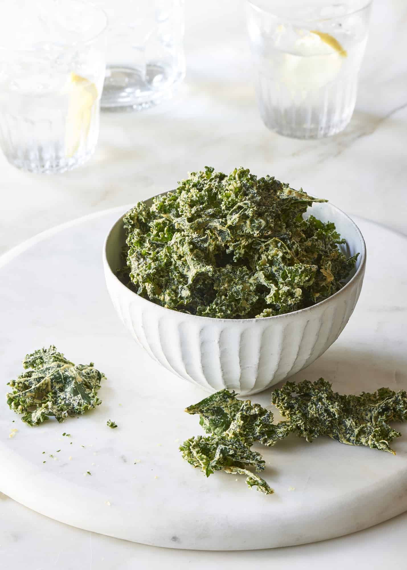 Garlic Kale Chips The Blender Girl
