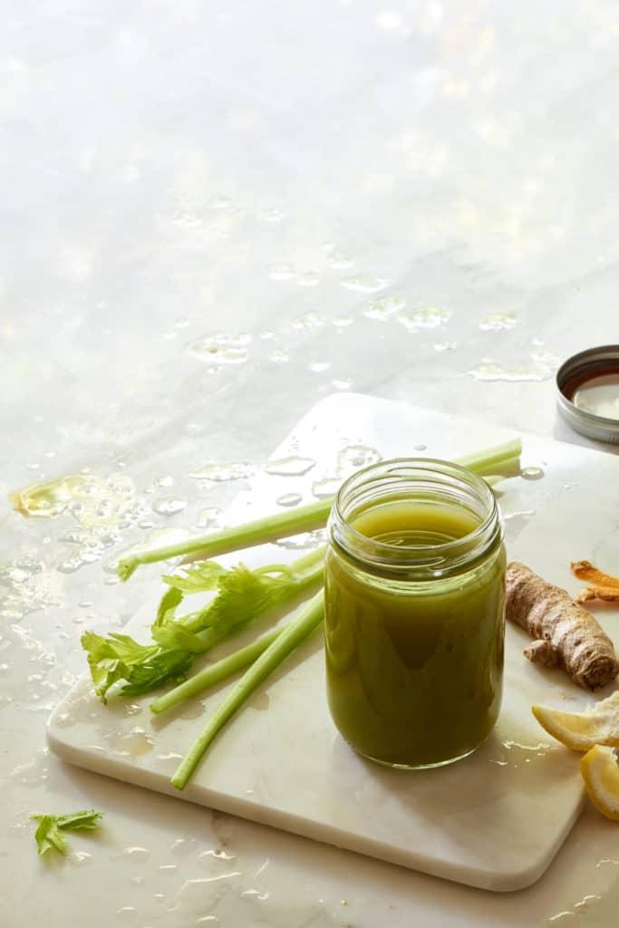 Anti-Inflammatory Green Ginger Turmeric Juice - The Blender Girl