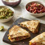 Vegan Quesadillas with Bean Cheese and Fajitas
