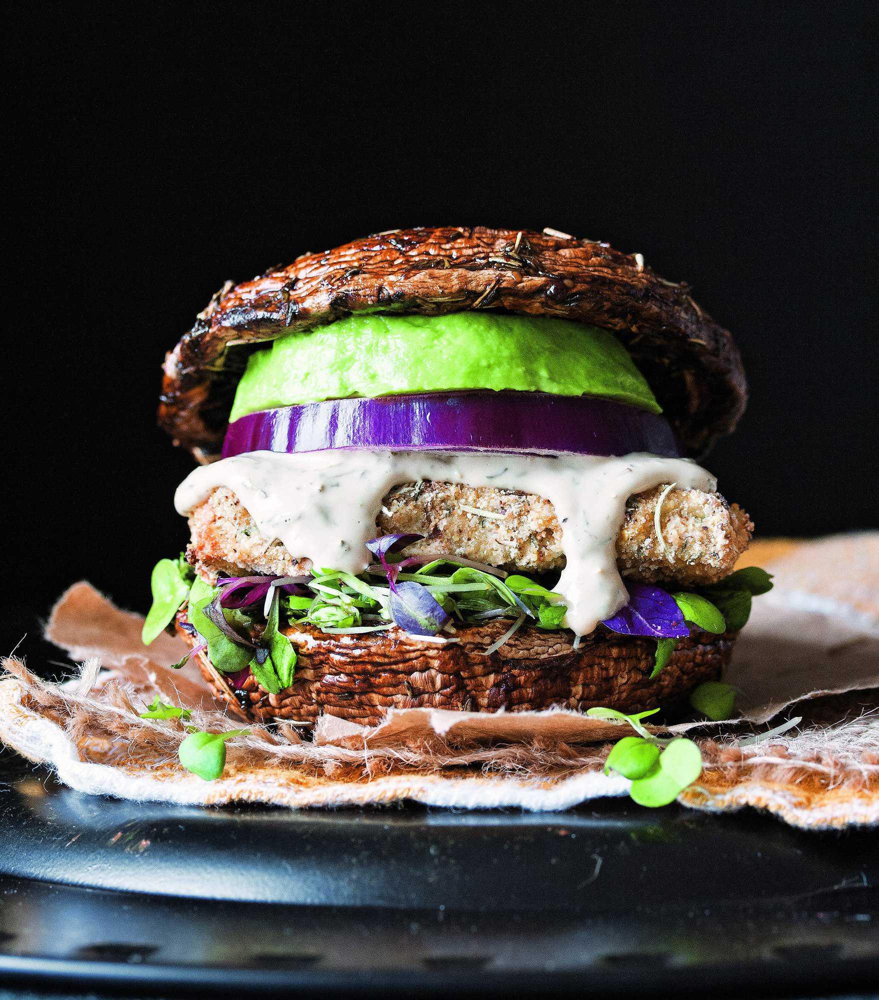 Vegan Portobello Mushroom Burger Gluten Free The Blender Girl
