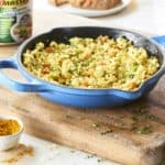 Vegan Tofu Scramble with Bell Peppers and Herbs