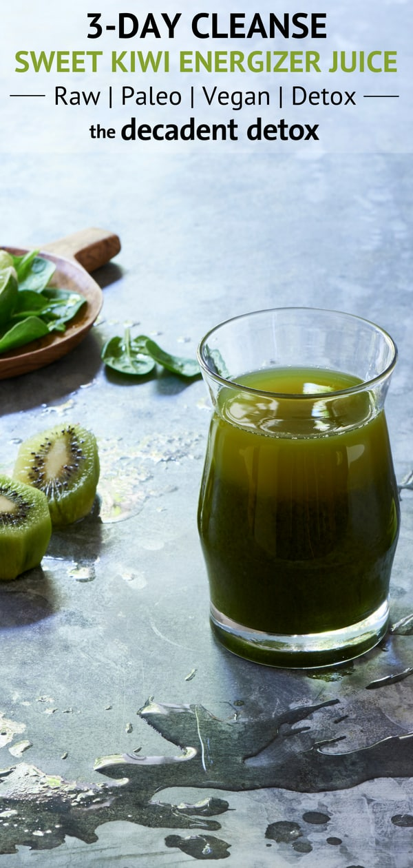 Tropical Spinach, Apple, Kiwi Juice for Detox - The Blender Girl